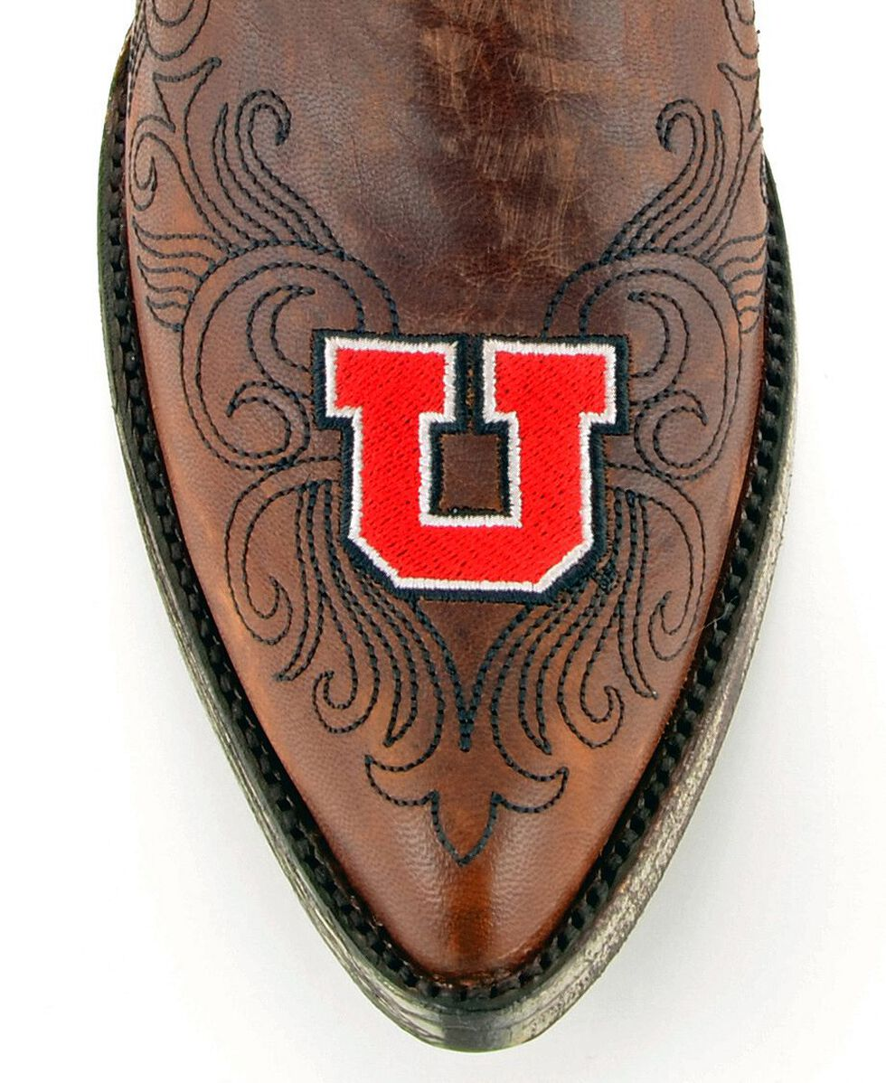Gameday University of Utah Cowgirl Boots - Pointed Toe, Brass, hi-res