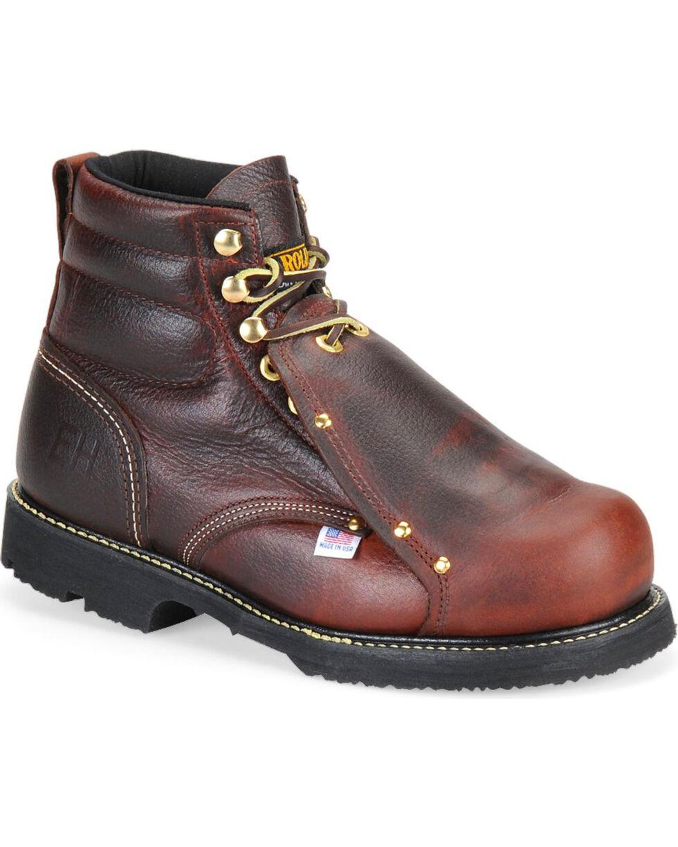 Carolina Men's Brown Domestic External MetGuard Boots - Round Toe, Brown, hi-res