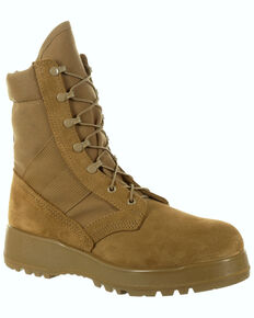 Rocky Men's Entry Level Hot Weather Military Boots - Round Toe, Taupe, hi-res