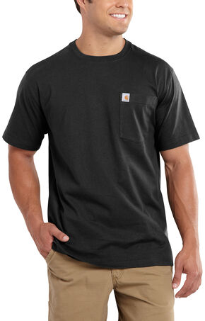 Carhartt Maddock Pocket Short Sleeve Shirt - Big & Tall, Black, hi-res
