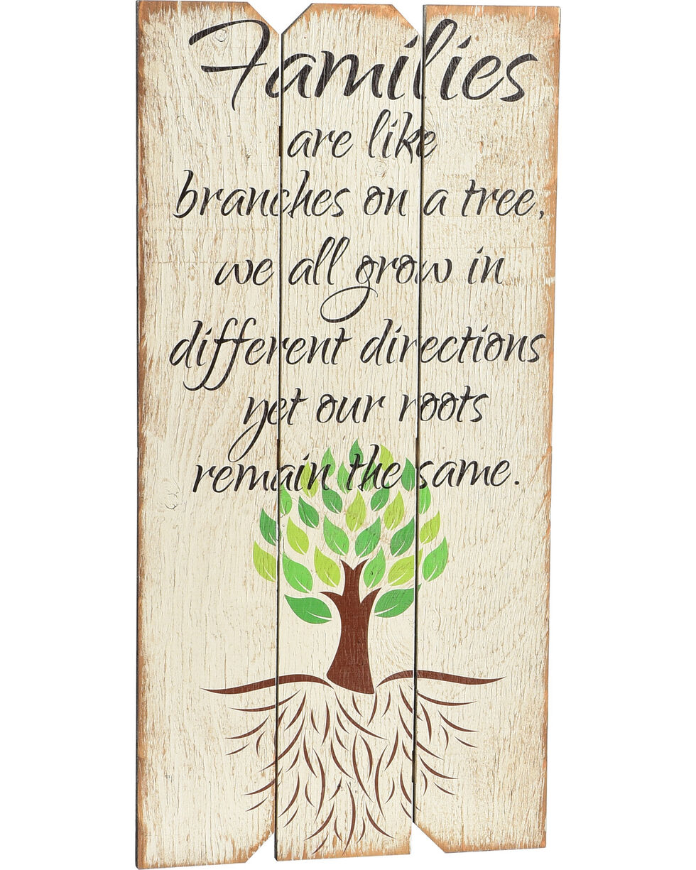 "Boulder Innovations ""Family Tree"" Wooden Sign, White, hi-res"