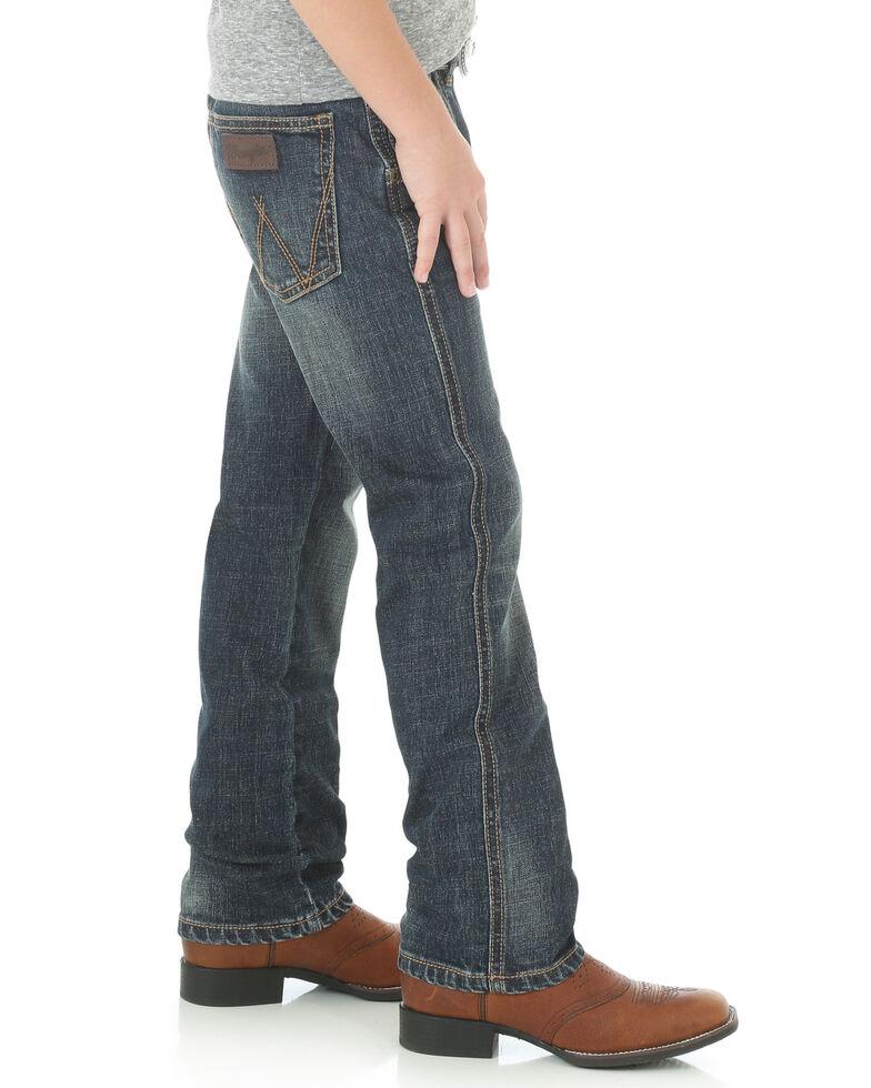 Wrangler Retro Boys' 8-18 Low Slim Straight Jeans, Indigo, hi-res