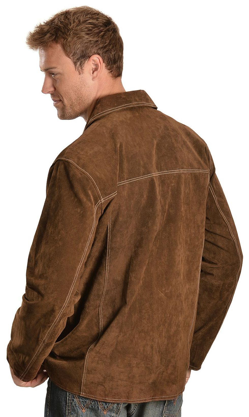 Scully Suede Leather Coat, Brown, hi-res