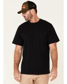 Hawx Men's Solid Black Forge Short Sleeve Work Pocket T-Shirt - Tall, Black, hi-res