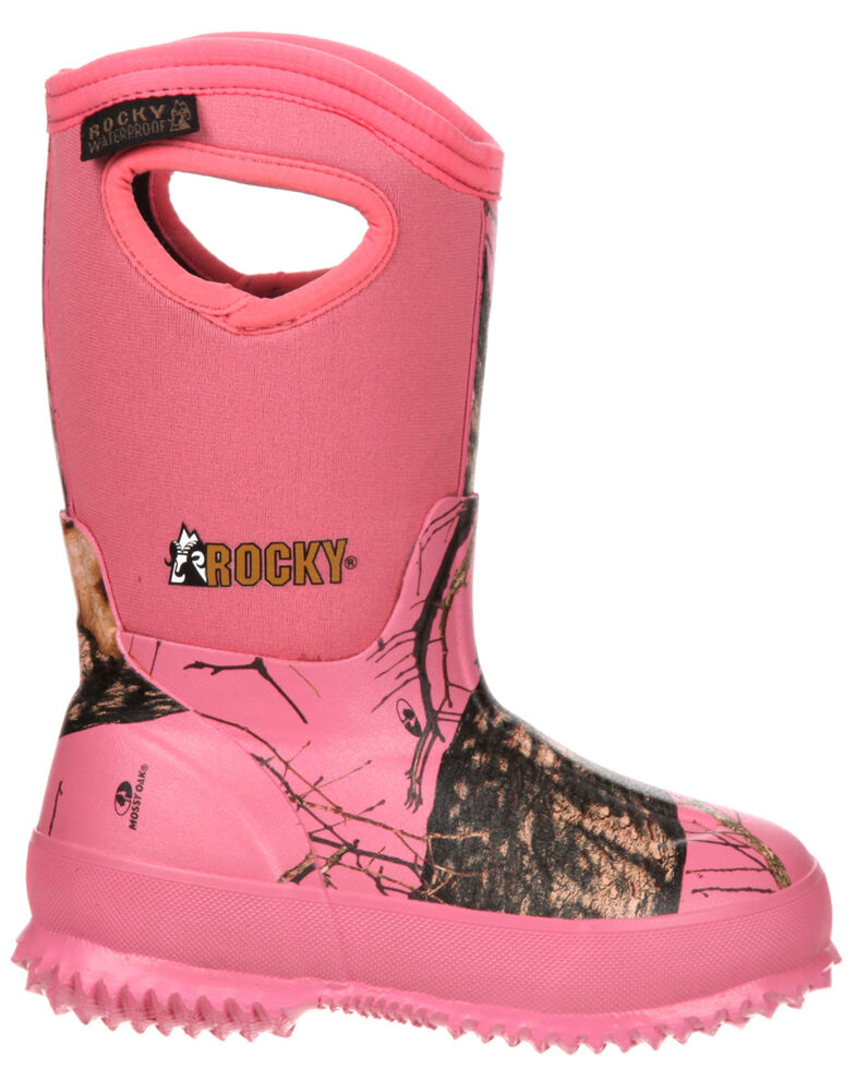 Rocky Youth Girls' Core Pink Camo Waterproof Insulated Rubber Boots, , hi-res
