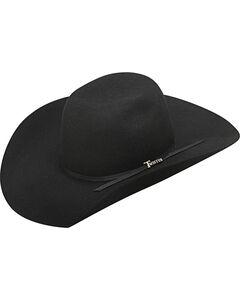 Twister Boys' Wool 2-Cord Black Band Cowboy Hat, Black, hi-res