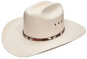 Stetson Eagle Pass 10X Shantung Straw Cowboy Hat, Natural, hi-res