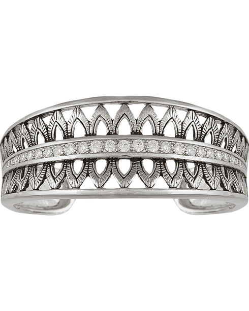 Montana Silversmiths Feathered Crown Cuff Bracelet, Silver, hi-res
