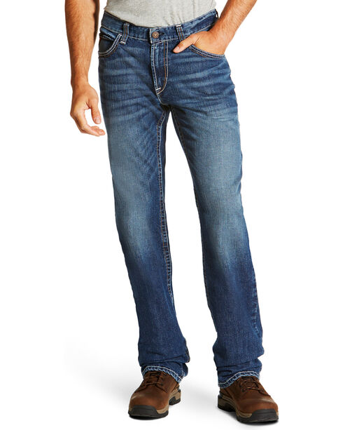 Ariat Men's M4 Flame Resistant Alloy Boot Cut Jeans, Indigo, hi-res