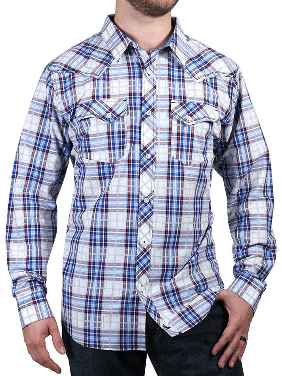 Cody James Men's Trapper's Tail Plaid Western Shirt, , hi-res
