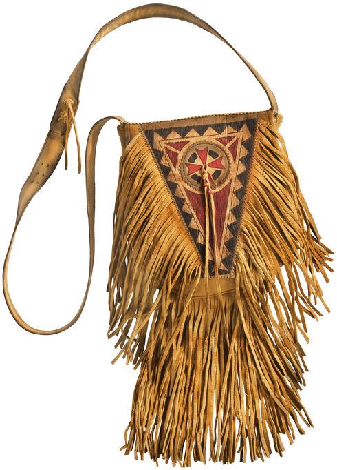 Kobler Leather Khaki Painted Handbag , Khaki, hi-res