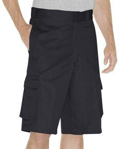 Dickies Twill Cargo Shorts - Tall, Black, hi-res