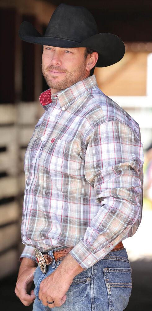 Cinch Men's Multi Plain Weave Button Down Long Sleeve Shirt , Multi, hi-res