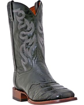 Dan Post Caiman Belly Cowboy Boots - Square Toe, Black, hi-res