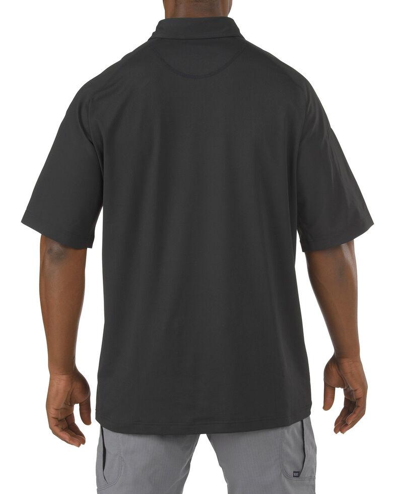 5.11 Tactical Rapid Performance Short Sleeve Polo Shirt, Black, hi-res