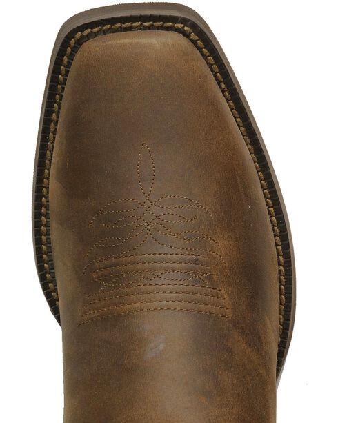 Justin Stampede Western Apache Cowboy Boots - Square Toe, Sorrel, hi-res