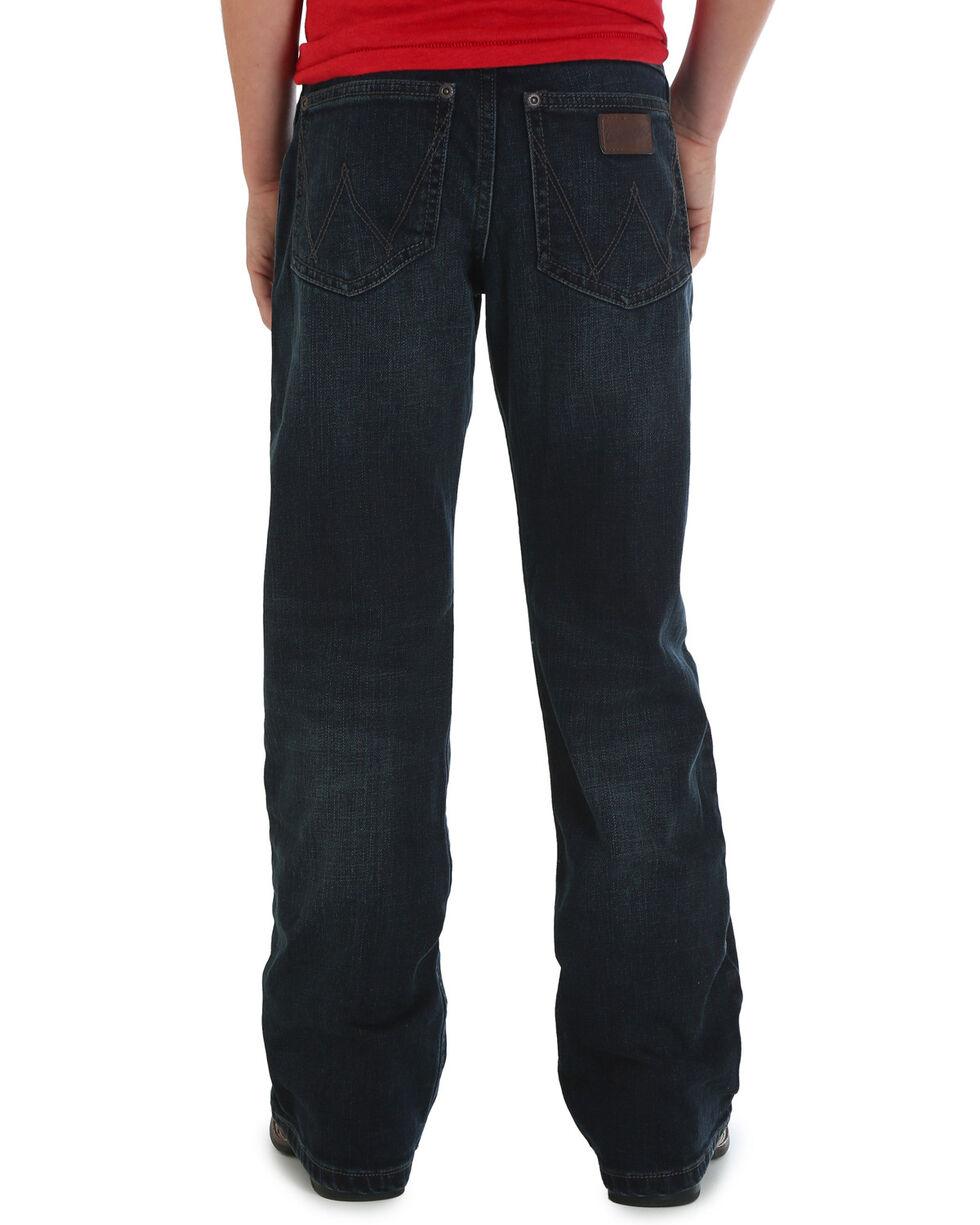 Wrangler Boys' (8-16) Oakdale Retro Relaxed Boot Cut Jeans , Indigo, hi-res