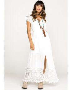 32afd40e3ead06 Band of Gypsies Womens White Bermuda Button Down Maxi Dress, White, hi-res