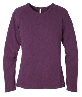 Mountain Khakis Women's Contour Crew Shirt, Burgundy, hi-res