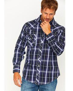 Ely 1878 Men's Textured Plaid Long Sleeve Snap Shirt, Multi, hi-res