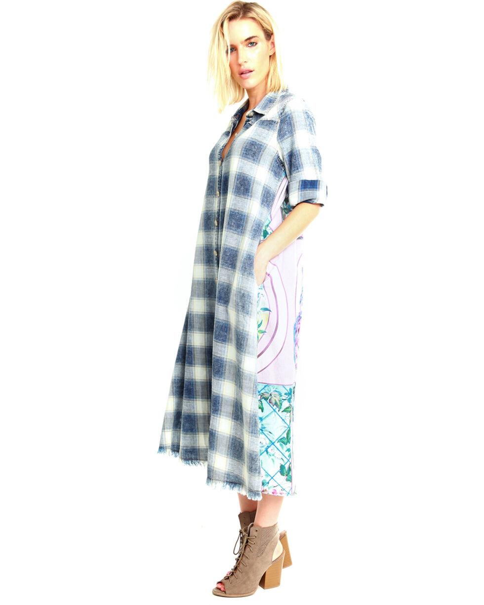 Aratta Women's Blue Garden Of Sin Duster, Medium Blue, hi-res
