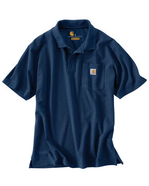Carhartt Contractor's Work Pocket Polo Shirt - Big & Tall, Dark Blue, hi-res