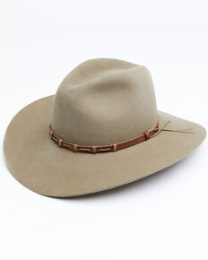 Rodeo King 5X Pecan Tracker Bonded Leather Western Felt Hat, Pecan, hi-res