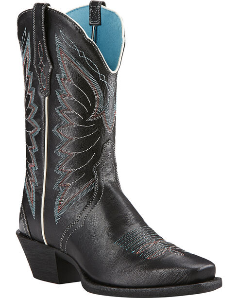 Ariat Old Black Autry Performance Cowgirl Boots - Square Toe , Black, hi-res