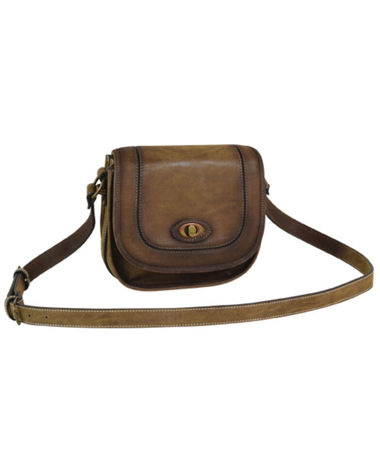 Trendition Women's Justin Saddle Bag, Brown, hi-res