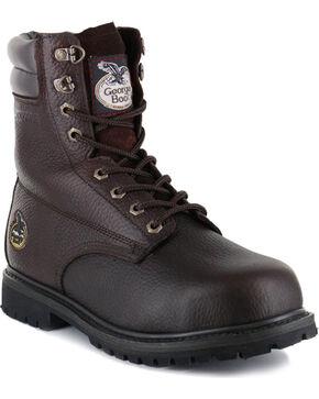 "Georgia Men's 6"" Oiler Work Boots - Steel Toe , Brown, hi-res"