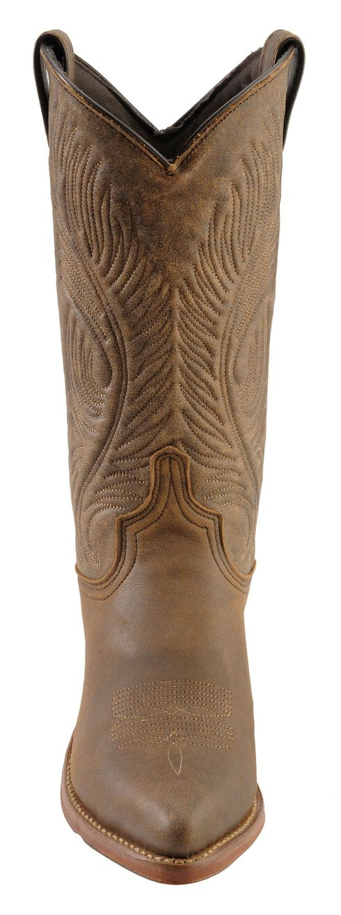 Abilene Bomber Leather Cowgirl Boots, Roughout, hi-res