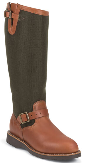 "Chippewa Women's 15"" Snake Boots - Round Toe, Russet, hi-res"