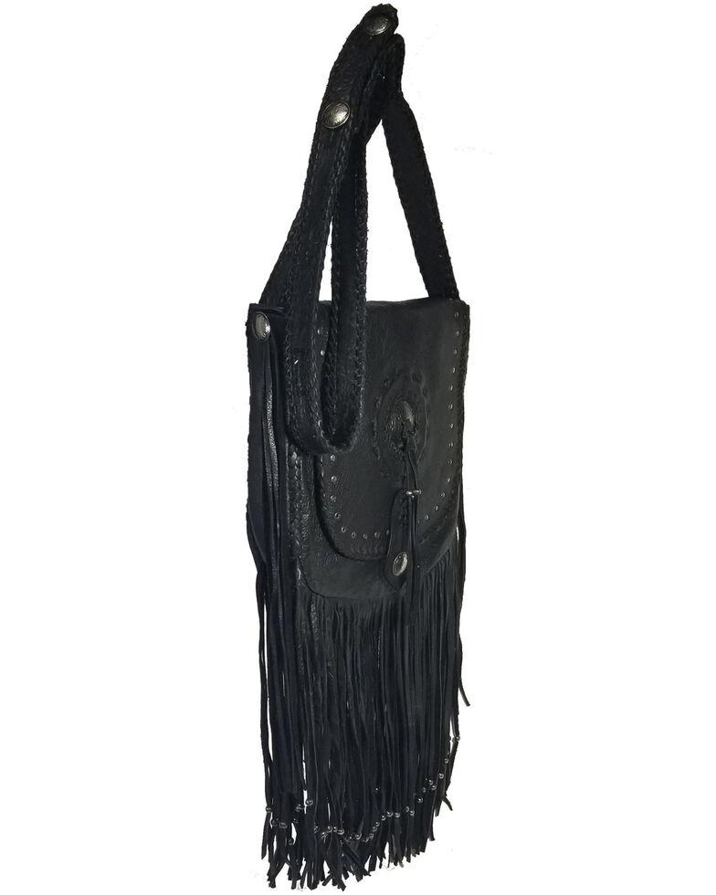 Kobler Leather Women's Black Concho Crossbody Bag, Black, hi-res