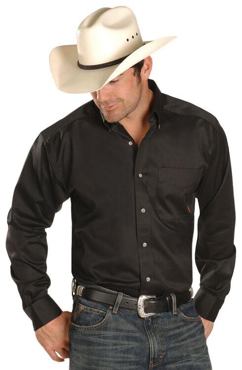 Ariat Black Twill Cowboy Shirt - Big & Tall, Black, hi-res