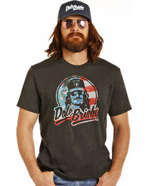 Rock & Roll Cowboy Men's Black Patriotic Dale Brisby Tee, Black, hi-res