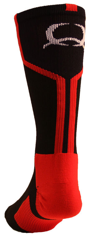 Cinch Men's Black Crew Socks , Black, hi-res