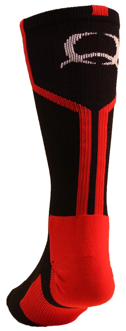 Cinch Men's Black Crew Socks , Black, hi-res
