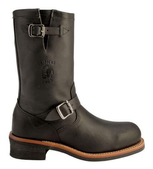 Chippewa Engineer Boots - Steel Toe, Black, hi-res