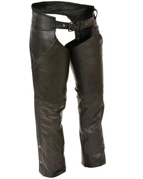 Milwaukee Leather Women's Hip Pocket Chaps - 4X, Black, hi-res