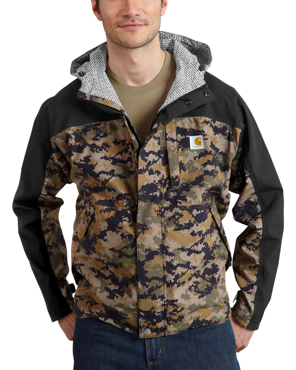 Carhartt Men's Camo Shoreline Vapor Waterproof Jacket, Camouflage, hi-res