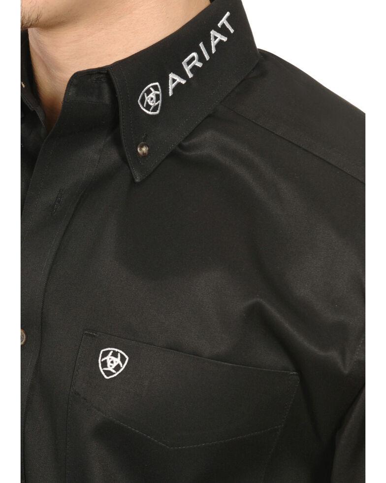 Ariat Men's Black Long Sleeve Logo Long Sleeve Western Shirt , , hi-res