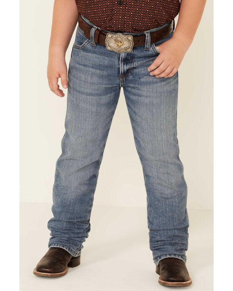 Wrangler Retro Boys' Linville Stretch Slim Straight Jeans , Blue, hi-res