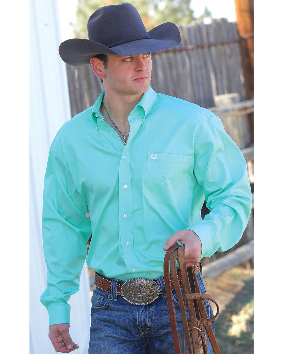 Cinch Men's Green Button Long Sleeve Shirt, Green, hi-res