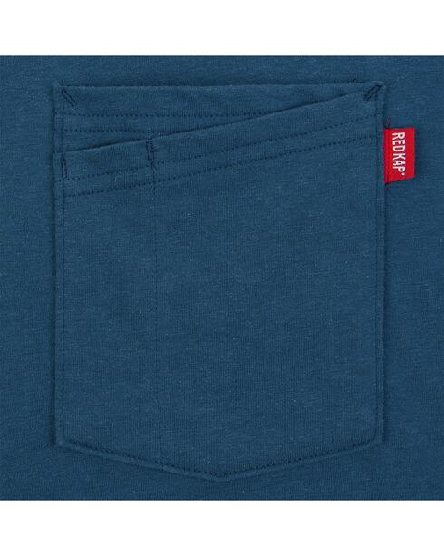Red Kap Men's Enamel Blue Solid T-Shirt , Blue, hi-res