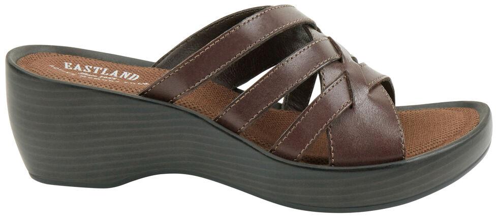 Eastland Women's Brown Poppy Wedge Sandals, Brown, hi-res