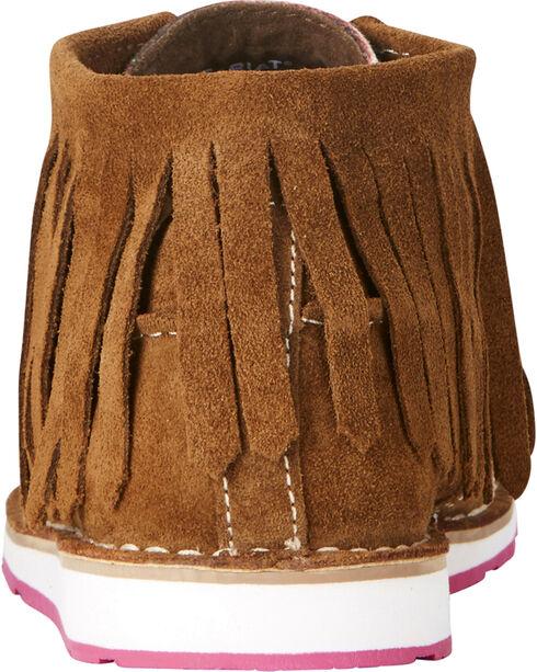 Ariat Women's Serape Stripe Fringe Cruiser Chukkas - Moc Toe, Dark Brown, hi-res