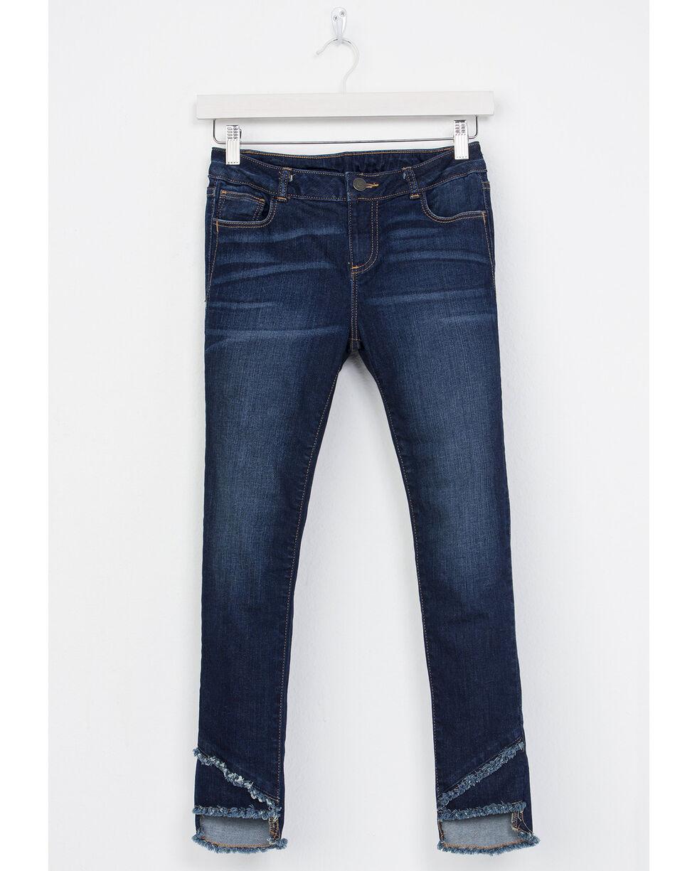 Miss Me Girls' A-Frayed Not Ankle Skinny Jeans, Indigo, hi-res