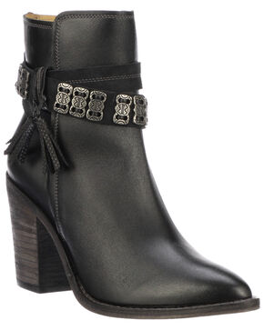 Lucchese Women's Yvonne Fashion Booties - Pointed Toe, Black, hi-res
