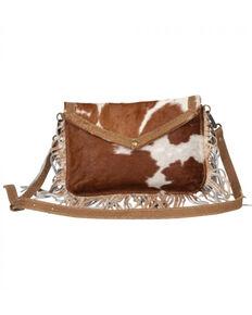 Myra Bag Women's Fancy Delight Cowhide Bag, Brown, hi-res