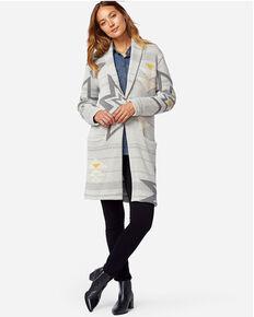 Pendleton Women's Grey Plain Star Sweater Coat , Grey, hi-res